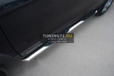 Chevrolet Captiva 2012 Пороги труба d76 с накладками (вариант 1) CHCT-0008291